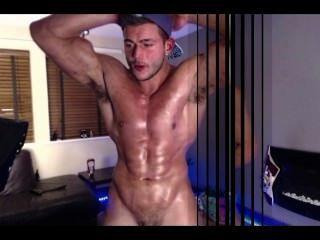 Muscular Naked Gogo Dancing