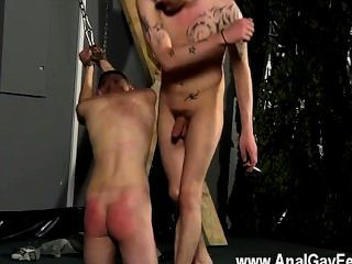 Twink Video Aiden Can Do Nothing As Wild And Sadistic Adam Circles Him,