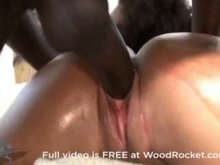 Her Big Booty Gets Oiled Up With Cum