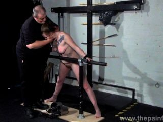 Basket Hung From Nipples In Extreme Tit Torture And Sex Toy Domination