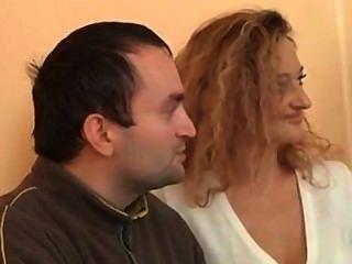 Hot German Nympho Blonde Fucks Threesome