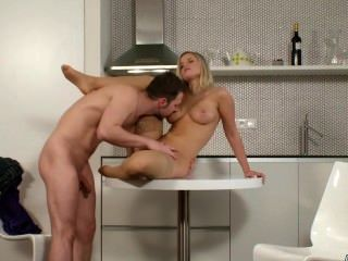 Hot Blonde Chick Takes It Hardly