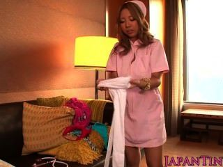 Petite Busty Nurse Aya Miyazaki Drilled And Gets Creampied