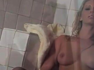 Blonde In Shower