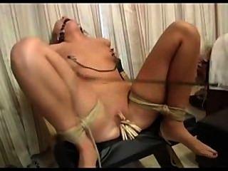 Blonde Brittney Love Cums In Bondage