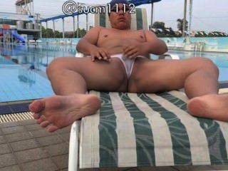 Outdoor Naked Fun At Swim Pool