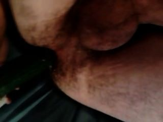 Guy Fucking Self With Cucumber