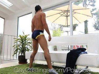 Hd - Gaycastings Hot Guy Is Not Shy To Talk Dirty On Camera