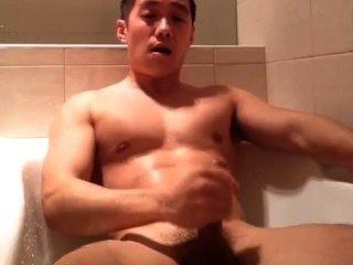 Hot Asian Masturbatein Bathtub