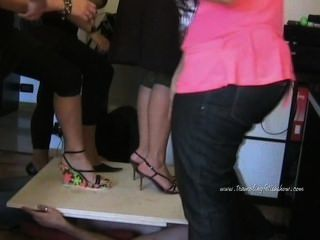 Italian Women Trampling In High Heels