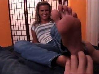 Dacy Lynn Tickling Footjob