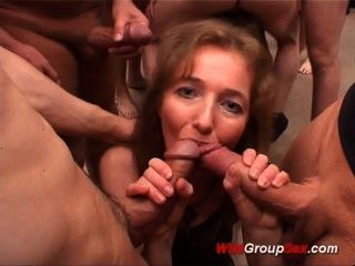 Chocolate Chick In Extreme Gangbang