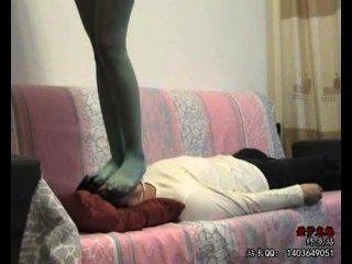 Chinese Girl Pantyhose Trample