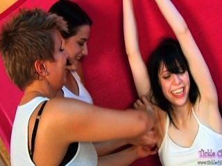 Three Girl Fingernail Tickle Torture Willa