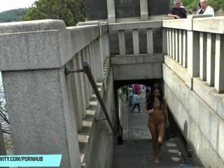 Slim Teen Martina Shows Her Sexy Body In Public