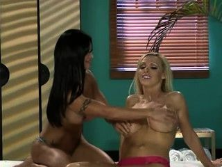 Nikki Benz And Jewels Jade In Lesbian Massage