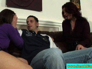 Real Newbie Teen And Mommy Suck The Same Cock