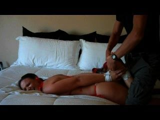 Tickle And Footjob While Hogtied