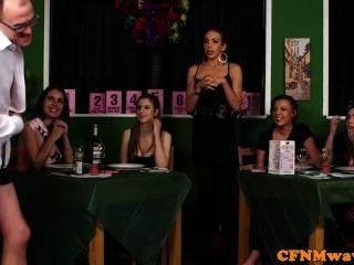 Femdom Cfnm Reverse Gang Bang To Waiters