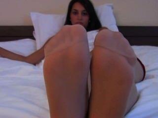 Agatha Pantyhose Nylon Feet Tease