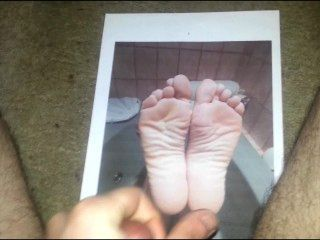 Pinks Feet Cum Tribute