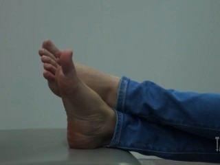 Candid Feet Relaxing Thai Girl
