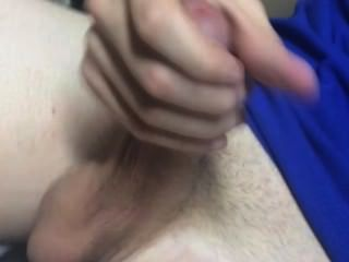 A Guy Jacking Off In The Bathroom