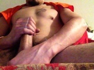 Stroking My Dick, Huge Cumshot