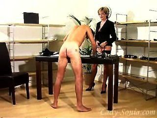 Charming Lady Sonia Once More To Train A Slave.