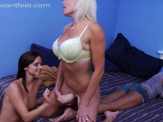 Ashley Sinclair & Stepmom Foot Love Danica