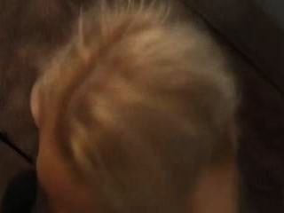 Blonde Slut Covered In Cum