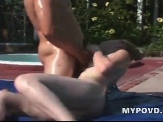 Oily Amateur Couple A Ingenious Way To Fuck