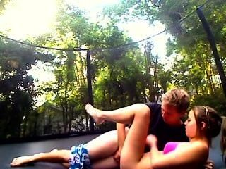 Exgf Getting Fucked On A Trampoline