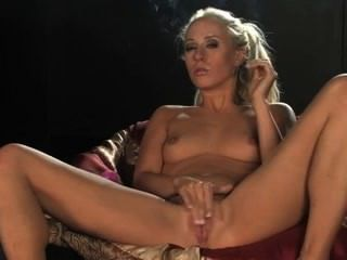 Smoking And Masturbating Girl