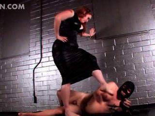 Redhead Mistress Torturing Cock In Bdsm Video
