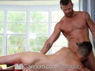 Hd Gayroom - Hunk Gets Oiled Up And Fucked