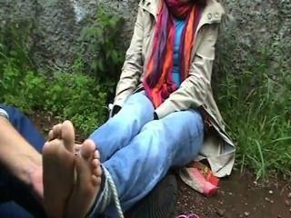 European Girl Get Tickled