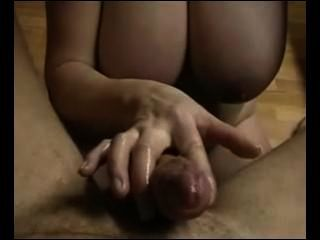 Handjob From Amateur With Big Tits