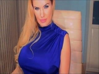 Blue Dress Blonde Webcam