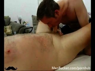 Real Big Bear Getting His Cock Sucked Good