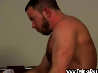 Naked Men Colleague Butt Banging!