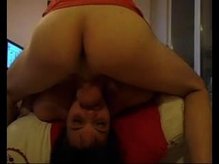Bbw Brunette Gets Facefucked By Her Boyfrriend