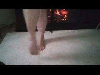 Sexy Feet By The Fireplace