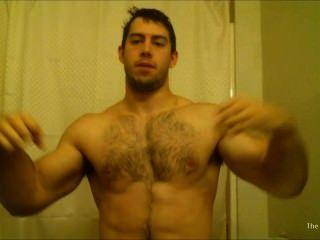 Cocky Bodybuilder Flexing