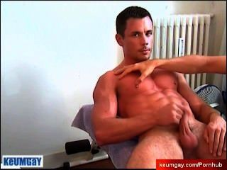Huge Load, Lots Of Juice ! Thom Get Wanked His Big Cock By Us!