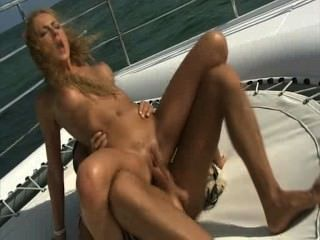 Lily Love Gets Dped On A Boat