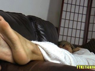Sleepy Feet Loving Tickling