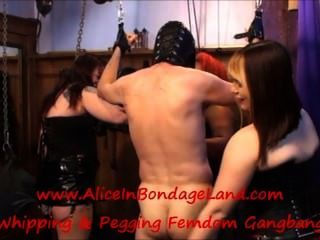 Three Dommes Use One Slave Three