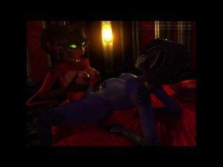 Blue & Red - Midnight Frenzy