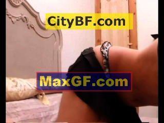 Sweet Girl Doing Fun Stuff In Her Bedroom